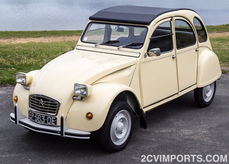 Fully-Restored Beige 2cv with Galvanized Chassis - Photo #2 - For Sale in the USA