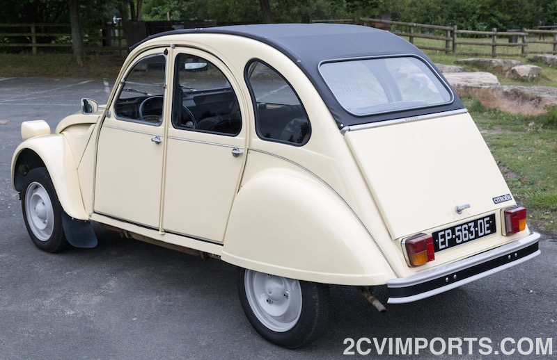 Fully-Restored Beige 2cv with Galvanized Chassis - Photo #3 - For Sale in the USA