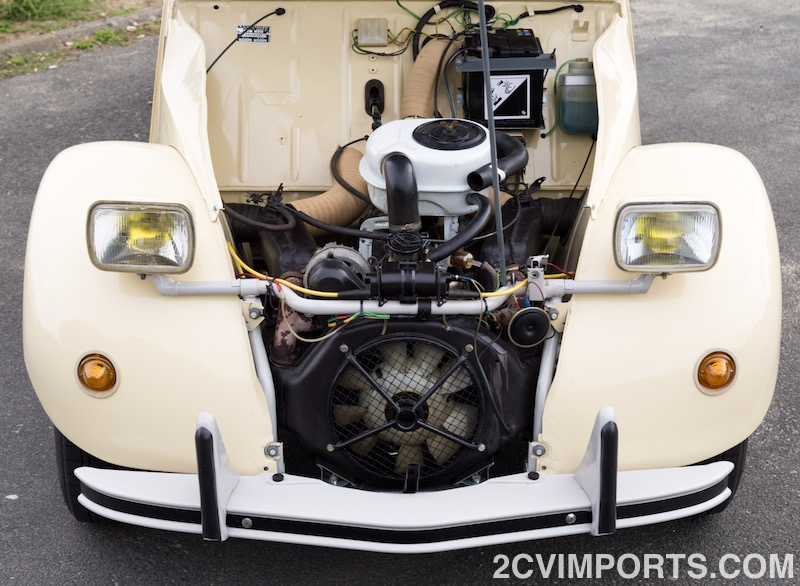 Fully-Restored Beige 2cv with Galvanized Chassis - Photo #8 - For Sale in the USA