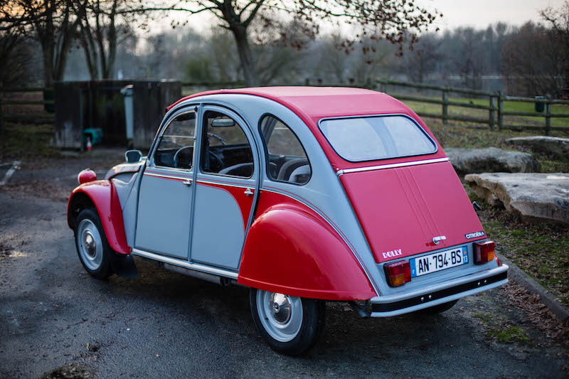 Fully-Restored Red/Gray Citroen 2cv Dolly - Photo #2 - For Sale in the USA